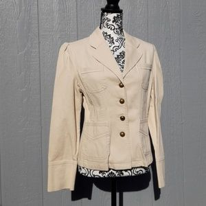 Cream color corduroy blazer jacket